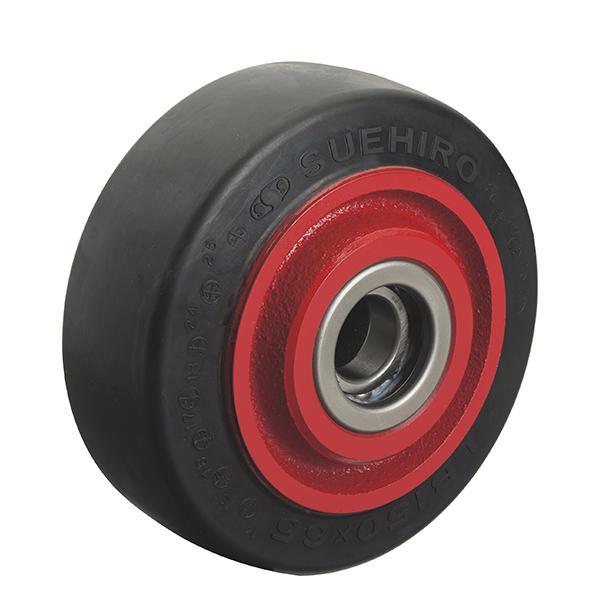 LB型(イモノ製ホイル重荷重用ジエンゴム車輪)
