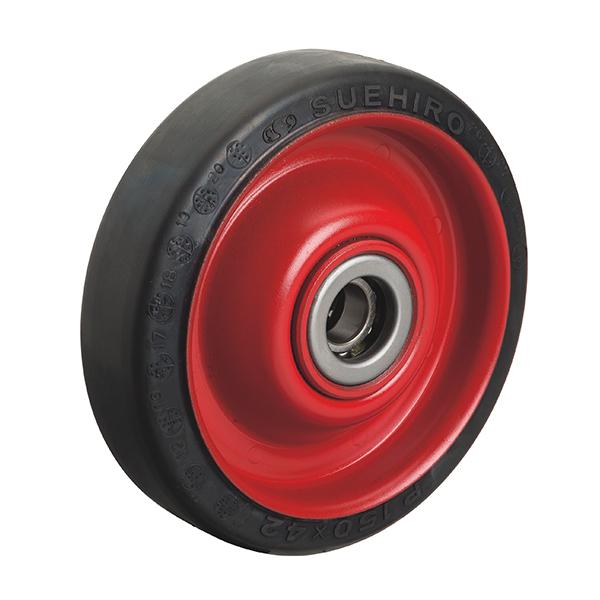 P型(プレス製ホイルジエンゴム車輪)